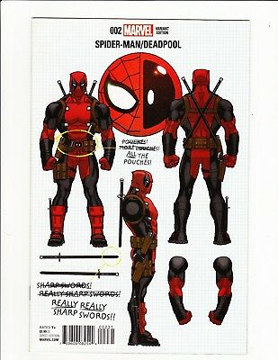 Spiderman / Deadpool #2 Ed Mcguinness Design Variant 1St Print 2016 Build Ur Own