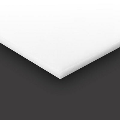 "HDPE (High Density Polyethylene) Plastic Sheet 1/8"" x 24"" x 48"" Natural White"