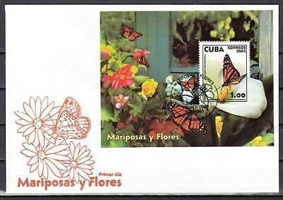 Caribbean Area, Scott cat. 4337. Butterfly s/sheet. First Day Cover.