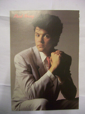 PAUL YOUNG + HOWARD JONES 185mm x 265mm poster page from Girl Annual 1986