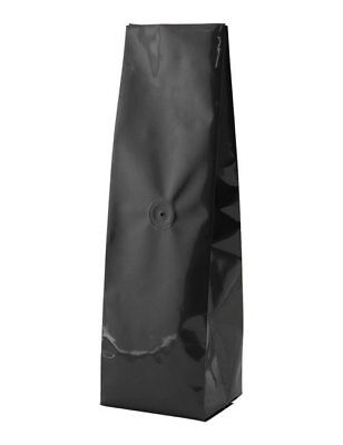 BAP 500 12-16 oz Black Side Gusseted Coffee Bags, with Valve