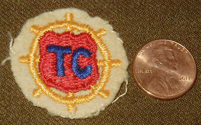 Original early WWII Transportation Corps patch - small variation for cap
