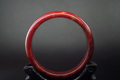 Exquisite Chinese Old Natural red blood jade Hand-carved jade bangle ,R-013
