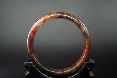Exquisite Chinese Old Natural red blood jade Hand-carved jade bangle ,R-065