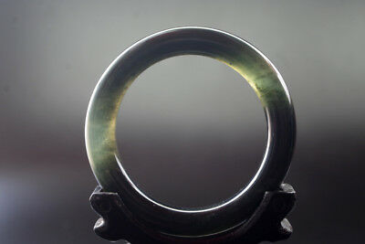 Collection Chinese Old Natural  jade Hand-carved jade bangle ,R-091