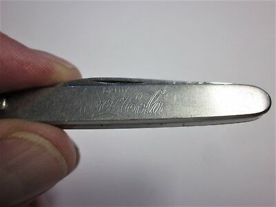 Vintage Drink Coca Cola Pocket Pen Knife Latama Italy Stainless