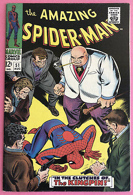 Amazing Spider-Man #51 High Grade (1967 Marvel) 2nd Kingpin, 1st Kingpin cover