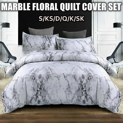 Marble Quilt/Duvet Cover Set King/Queen/Double Size Bed Doona Covers Pillowcase
