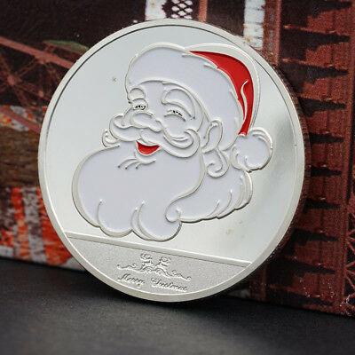 2017 Santa Claus With Elk Commemorative Coin Collection Gifts NEW POP