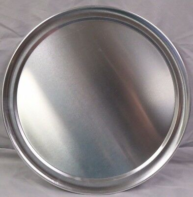 "(1 DOZEN) - 14"" PIZZA TRAYS - Pan - Aluminum - WIDE RIM TRAY - 1 DOZEN"