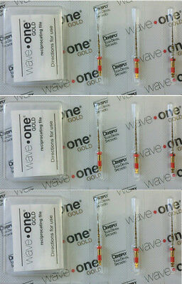 $18.5/File Waveone Gold Wave One Primary 25mm Endodontic File Root Canal 9 Files
