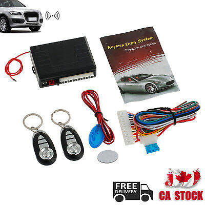 Universal Car Vehicle Alarm 2 Remote Central Kit Door Lock Keyless Entry System