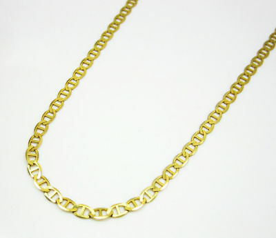 "14K Yellow Gold Necklace Flat Gucci Mariner Link Chain 2.5MM 16""-30"""