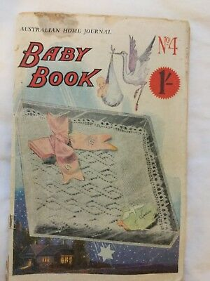 Wow rare VINTAGE BABY KNITTING  PATTERN  BOOK best ever lacy patterns