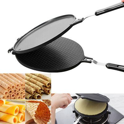 Waffles Cone Baking Pan Egg Roll Crispy Omelet Machine Bakeware Maker Cooking