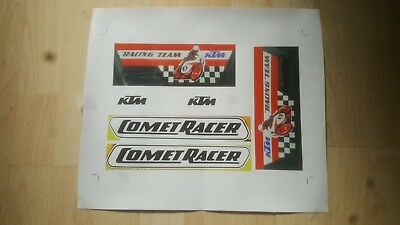 KTM COMET RACER 50cc MOPED DECAL STICKER TRANSFER SET