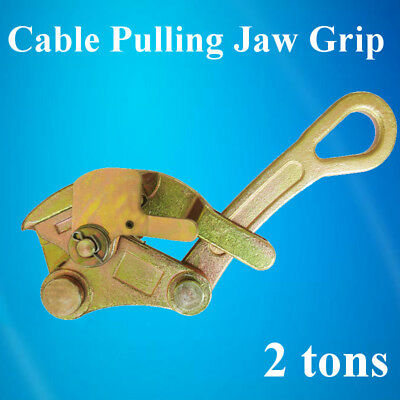 US 4409 Lbs 2 Ton Cable Wire Rope Haven Jaw Pulling Puller Grip Multifunctional