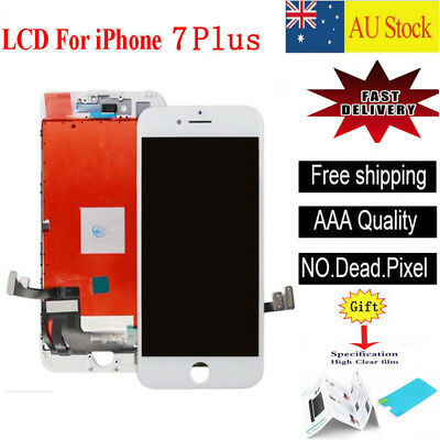 "For iPhone 7 Plus 5.5"" LCD Display Touch Screen Digitizer Lens Replacement White"