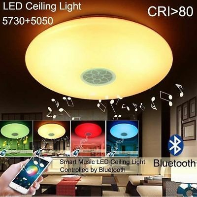 2x 24W Smart 15inch LED Ceiling Bluetooth Music Speaker Light Dimmable