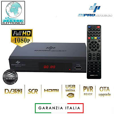 Decoder Satellitare FREE TO AIR SAT DVB-S2 PVR - RCU 2IN1 con telecomando univer