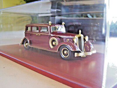 New China Last Qing Emperor Pu Yi 1932 Red Cadillac Limousine Car 1:43 清帝溥仪豪华轿车