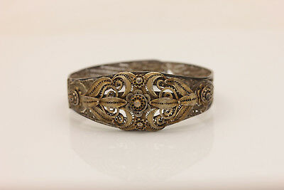 Antique Original Silver Filigree Ottoman Islamic Amazing Bracelet