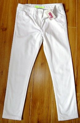Bnwt Girls Next White Skinny Jeans 6 Yr 5-6 New Holiday Party Jeggings Summer