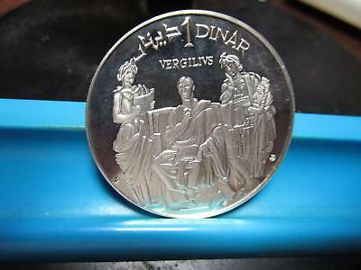1969 - Tunisia - One Dinar - Silver  Proof - 40-mm                (P-64)