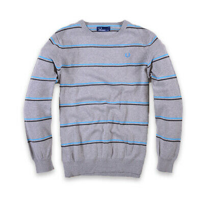 Fred Perry Junge Kinder Pullover Sweater Strick Gr.XL (170) Young Grau, 29403