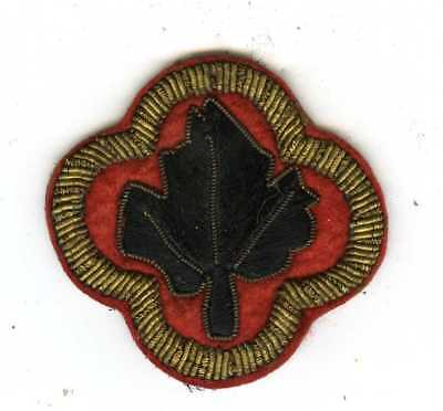 Beautiful Bullion Trimmed German Made 43rd Infantry Division Shoulder Insignia
