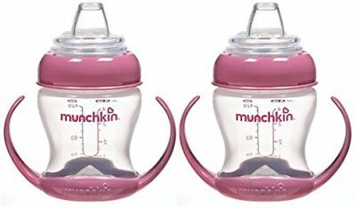 Munchkin Flexi-Transition 4 Ounce Trainer Cup, 2 Pack, Pink