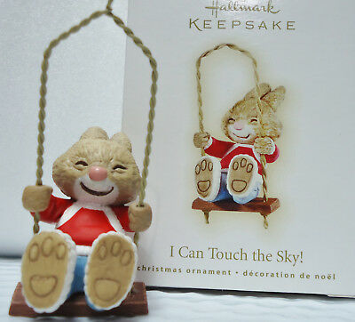 Hallmark 2009 I Can Touch The Sky Bunny Rabbit In Swing Ornament Nib