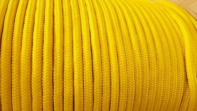 10mm YELLOW Strong Braided Polypropylene Plaited Poly Rope Cord Yacht Sailing