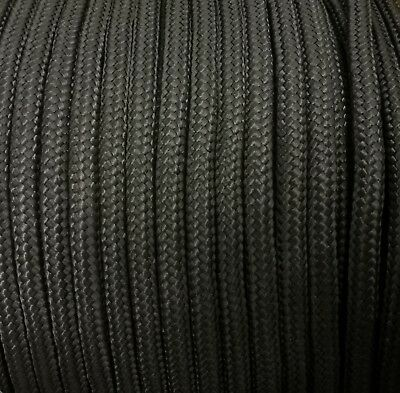 10mm BLACK Strong Braided Polypropylene Plaited Poly Rope Cord Yacht Sailing