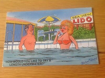 Retro Saucy Postcard - Brian Perry Original