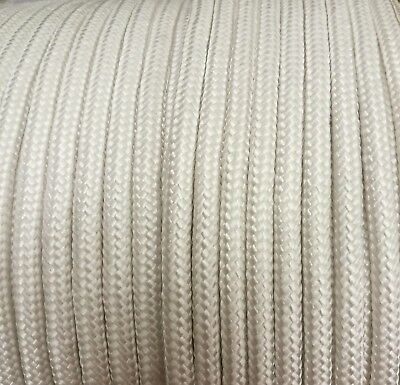 10mm WHITE Strong Braided Polypropylene Plaited Poly Rope Cord Yacht Sailing