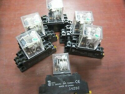 Omron, MY2N, Relay & Base (PYF08A-E), 24 Vdc Coil, DIN Mount, 1 Lot Of 6 Each