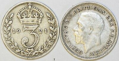 1920 to 1926 George V Sterling Silver Threepence 1st Design Your Choice of Date