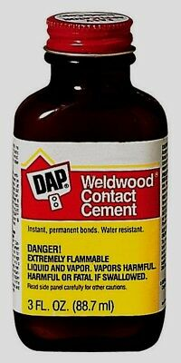 DAP Weldwood RUBBER CONTACT CEMENT High Strength Instant Bond Crafts 3 oz 00107