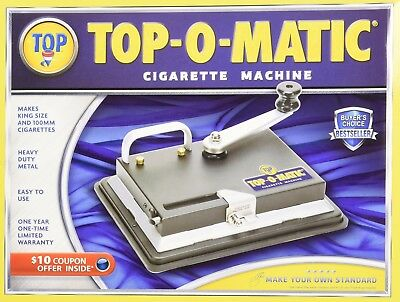 New Top-O-Matic Cigarette Rolling Machine Top Quality Genuine Lighter USA ©