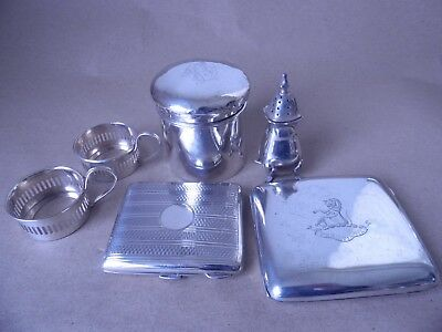 Job Lot English Sterling Silver For Use, Re-Sell, Spare Or Repair