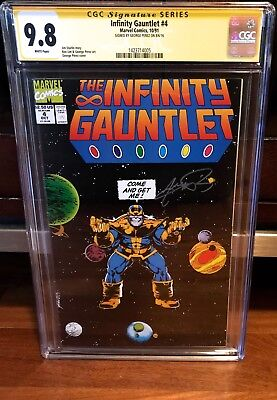 The Infinity Gauntlet #4 Cgc 9.8 Ss Signed George Perez Nm 1991 Order War