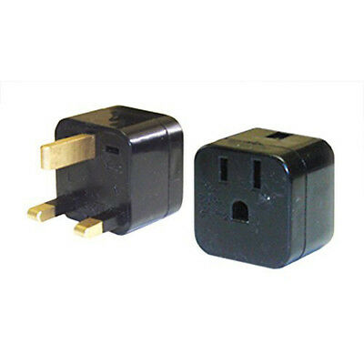 Power Bright US To UK 3‑prong Travel Outlet Plug Adapter