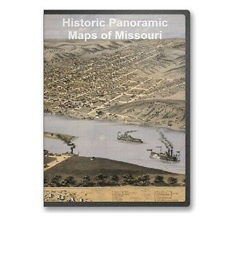 Missouri MO - 41 Vintage Panoramic City Maps - St. Louis, Etc. on CD - B169