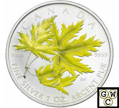 2006 Colorized Silver Maple Leaf 1oz .9999 Fine (Silver Maple) (NT) (11986)