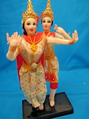 """ANTIQUE VINTAGE DANCERS INDIA HINDU Stand 9"""" Tall"""