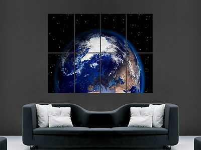 Space Poster From Planet Earth Image Stars Giant Print Art