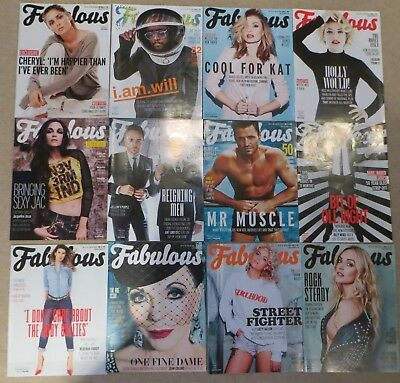 Job Lot Fabulous TV Magazines x 45 all in new condition Celebs Models Soap Stars