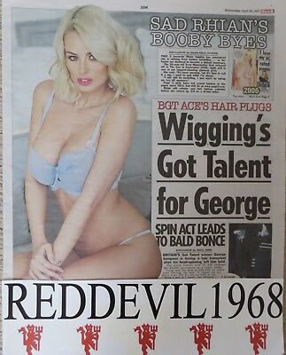 UK Page 3 pictures RHIAN SUGDEN  Newspaper cuttings Great Collection