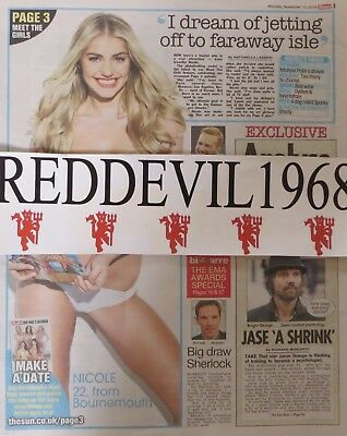 UK Page 3 pictures NICOLE NEALE  Newspaper cuttings Great Collection 2011